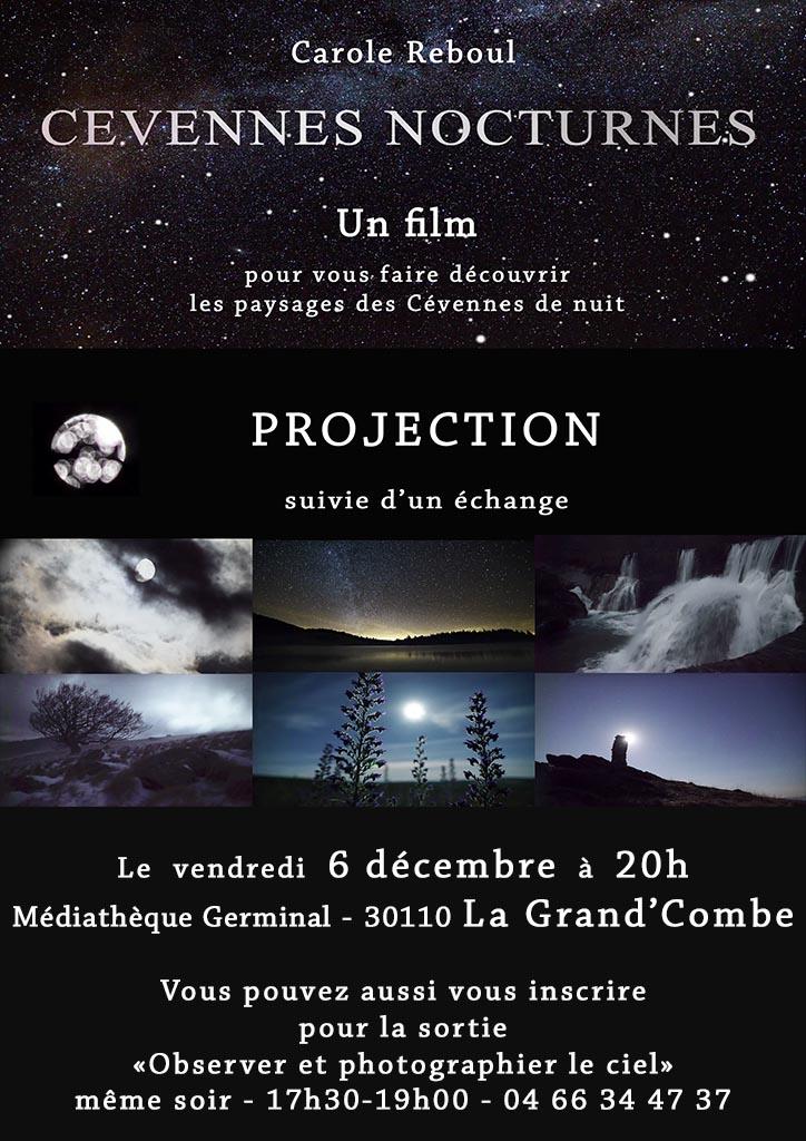 projection film cevennes nocturnes